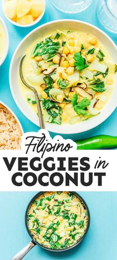 With loads of vegetable and a variety of powerhouse flavors, this Filipino recipe for veggies in coconut cream (Ginataang Gulay) is a weeknight game changer! Vegetarian Main Dishes, Vegetarian Recipes Dinner, Dinner Recipes, Top Recipes, Veggie Recipes, Asian Recipes, Healthy Recipes On A Budget, Budget Meals, Healthy Food
