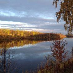 Ivalojoki in the end of September