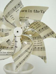 music notes pinwheel