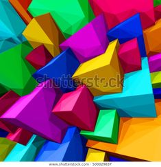 """Stock vektor """"Abstract Background Colorful Cubes Triangular Shades"""" (bez autorských poplatků) 500029837 Abstract Backgrounds, Mobiles, Cube, Logos, Image, Art, Art Background, Mobile Phones, Logo"""