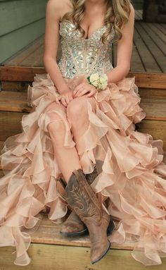 Sexy prom dress,New Arrival Personality Country Prom Dress,Sweetheart Beaded Evening Dress,Amazing High-Low Country Dress