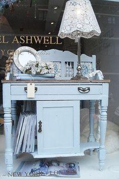 Shabby Chic Rachel Ashwell pale blue sideboard ~ lovely!