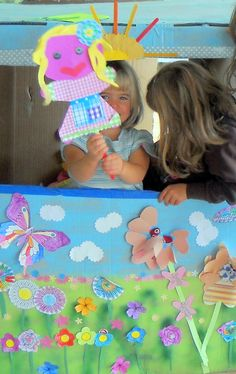 Cardboard puppet theatre production