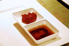 기름장 Gireumjang (sesame oil, salt, & pepper dip)   I've never known the right proportions before, so excited to make this the next time we grill Korean BBQ at home!