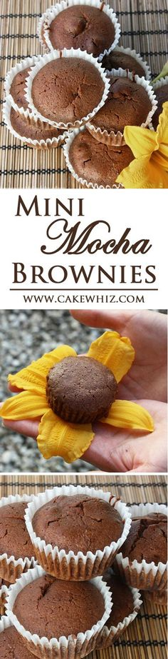 These MINI MOCHA BROWNIES are packed with the strong flavors of chocolate and coffee. They are rich and fudgy and have wonderful crackly tops! From cakewhiz.com