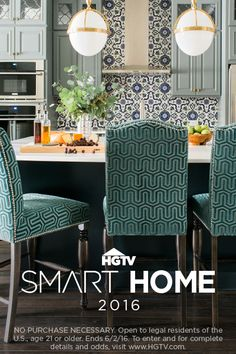 We've designed a tech-smart home packed with style and we're giving it away! Enter for a chance to win this stunning North Carolina home + a new car and cash! >> http://www.hgtv.com/design/hgtv-smart-home/sweepstakes