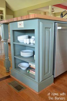 Glazed Kitchen Cabinets-Sherwin Williams Retreat
