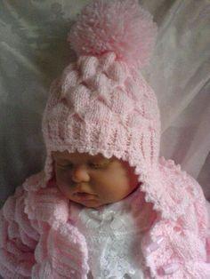No 69 Kadiejade Knitting Pattern - Qoster Baby Cardigan Knitting Pattern Free, Baby Boy Knitting Patterns, Baby Hats Knitting, Knitting Designs, Baby Patterns, Knitted Hats, Free Knitting, Knitted Baby Clothes, Baby Doll Clothes