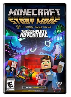 Minecraft: Story Mode- The Complete Adventure – PC  Created by award-winning adventure game powerhouse Telltale Games, in partnership with Minecraft creators, Morang You will drive the story through the decisions you make: what you say to people (and how you say it), and what you choose to do in moments of thrilling action will make this YOUR story All eight episodes in the series on one disc for the first time, all five episodes of Season One and all three episodes of the Adventure Pass.
