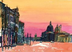 Sunset, Salute from Accademia, £1,750