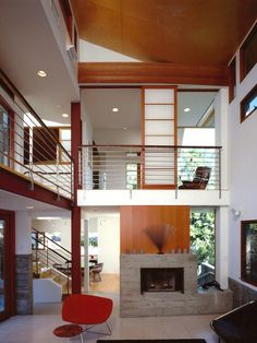 I love this style of open concept home, but you don't find many in Canada