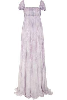 Alexander McQueen Floral-print silk-chiffon gown