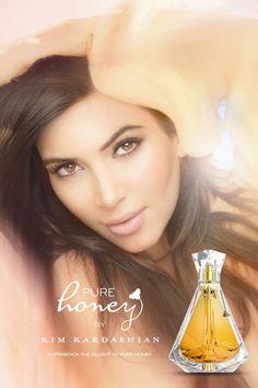 Kim Kardashian's new fragrance, Pure Honey. Heart.