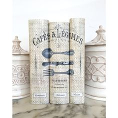 Custom Cookbooks, Three Cook Books with Custom Decorative Book Covers,... ($120) ❤ liked on Polyvore featuring home, kitchen & dining and cookbooks