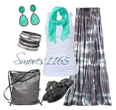 """""""Gray Tie Dye Maxi"""" by smores1165 ❤ liked on Polyvore featuring Ina Kent, Calypso St. Barth, Tusnelda Bloch, Aéropostale, J/Hadley and Mixit"""