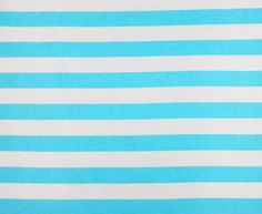 Light Blue and White 1 Inch Wide Stripes Cotton Lycra Knit Jersey Fabric