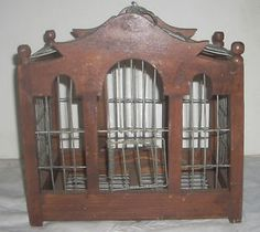 Vintage Bird Cage | Details about Small Antique / Vintage Hand Made Wooden Bird Cage