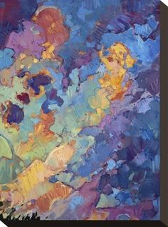 Stretched Canvas Print: California Sky (top right) by Erin Hanson : 12x9in