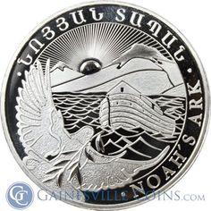 "In honor of the movie ""NOAH"" - A 2013 1 oz Silver Armenia Noah's Ark Coin - denomination of 500 Drams http://www.gainesvillecoins.com/category/651/armenia-silver-coins.aspx"