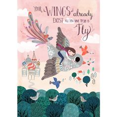 Rebecca Jones poster Your Wings 29.7 x 42 cm