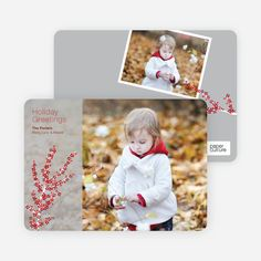 Berry Greetings Holiday Photo Cards by Paper Culture