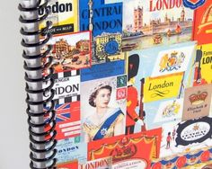 London  Spiral Notebook 4 x 6 by Ciaffi on Etsy, $12.50