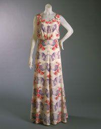 Designed by Elsa Schiaparelli, French (born Italy), 1890 - 1973  1937. Silk crepe with self appliqués and silk velvet ribbon