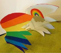 rainbow wings for rainbow dash costoum