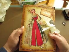 Vintage Fashion themed junk journal - YouTube