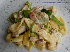 Dobrou chuť: Těstoviny s kuřecím a smetanou Pavlova, Pasta Salad, Poultry, Meat, Chicken, Ethnic Recipes, Food, Lasagna, Crab Pasta Salad