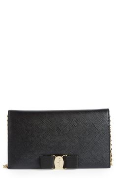 New Salavatore Ferragamo Miss Vara Leather Wallet on a Chain fashion online. [$760]?@shop.seehandbags<<