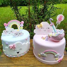 nutella mug cake Baby Girl Birthday Cake, Cute Birthday Cakes, Baby Girl Cakes, Beautiful Birthday Cakes, Beautiful Cakes, Bolo Fack, Baby Reveal Cakes, Cute Cakes, Baby Shower Cakes