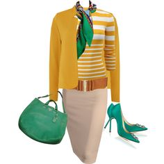 yelow by stiliszta on Polyvore featuring Michael Kors, Therapy, Manolo Blahnik and Prada