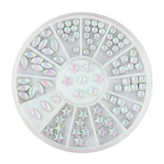 Color AB Rould Square Pentagram Marquise 3D Rhinestones Nail Art Supplies Glitter Diy Wheel Decorations