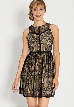 lace dress with keyhole back (original price, $44) available at #Maurices