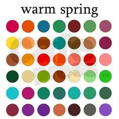 Warm Spring Palette - I think I am a warm spring!