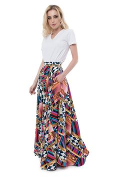 Maxi Skirt with Pockets for Romantic Summer Nights by BloomstyleShop on Etsy https://www.etsy.com/listing/541687489/maxi-skirt-with-pockets-for-romantic