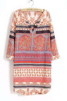 Something about the ease of a tunic with a great pattern. Is it a dress/shirt? Belt no Belt? Layer it for fall and strip it down for summer.