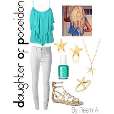 Daughter Of Poseidon Casual Outfit, Cabin 3, Percy Jackson Inspired Outfit
