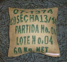 """Kissenbezug """"Partida No. 4"""", 35 x 35 cm von vansten-design - upcycling, recycling & more auf DaWanda.com"""