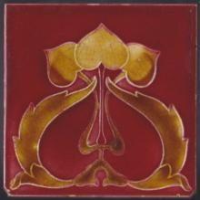 Rare Antique English Art Nouveau Tile