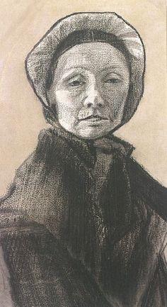 Woman with Dark Cap, Sien's Mother, the Hague, 1882, Vincent van Gogh