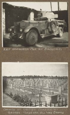 1920s RAF- IRAQ photo album- bottom shot - corner of War Cemetery