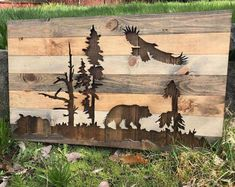 """Learn even more relevant information on """"metal tree wall decor"""". Check out our site. Silhouette Ours, Adler Silhouette, Animal Silhouette, Metal Tree Wall Art, Wood Wall Art, Metal Art, Wood Walls, Tree Wall Decor, Wall Art Decor"""