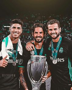 Marco, Isco, Nacho. #realmadrid