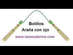 Bolillos: Como hacer una araña con ojo - YouTube