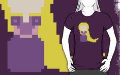 8-Bit Rapunzel by rebeccaariel