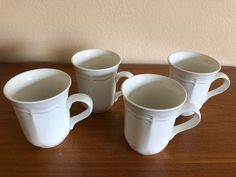 Four Mikasa French Countryside Mugs Excellent Condition Mikasa French Countryside, Four 4, Conditioner, Dinnerware, Mugs, Tableware, Dinner Ware, Tumblers, Dishes