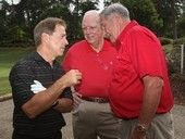 Nick Saban, Mal Moore, and Gene Stallings just chillin!