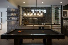 Inspiring contemporary home with gorgeous industrial accents in Alberta Contemporary Games, Contemporary Bathrooms, Billards Room, Pool Table Room, Dining Room, Dining Table, Greenwich House, Home Lottery, Home Bar Designs